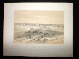 David Roberts Holy Land 4to 1887 Print. Tyre from the Isthamus. Lebanon